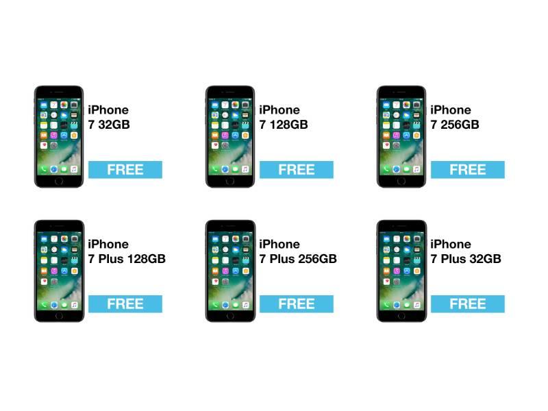 iPhone7 con Tre