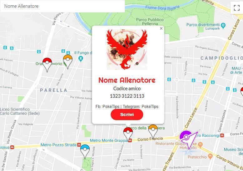 Mappa Pokémon Go Roma
