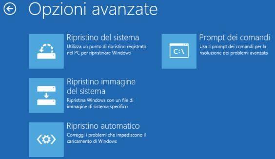 Ripristino Windows 10 bloccato senza cancellare i dati