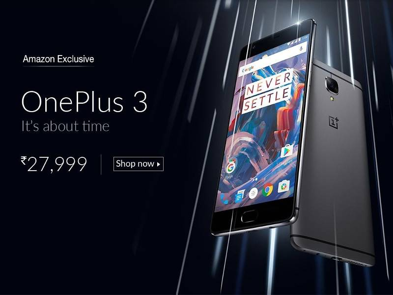 OnePlus 3 in vendita su Amazon
