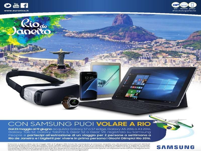 Con Samsung puoi volare a Rio 2016