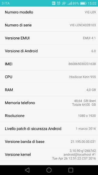 Huawei P9 Plus – Screen 1