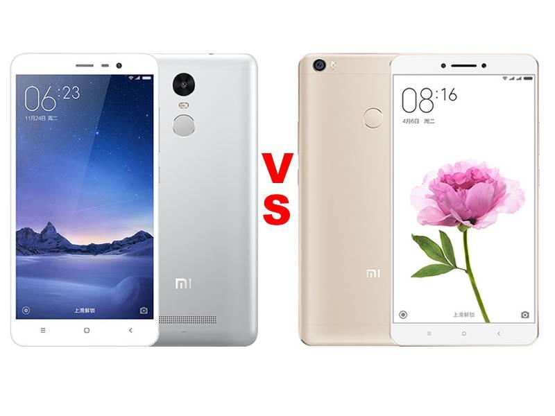 Xiaomi Redmi Note 3 Pro vs Xiaomi Mi Max