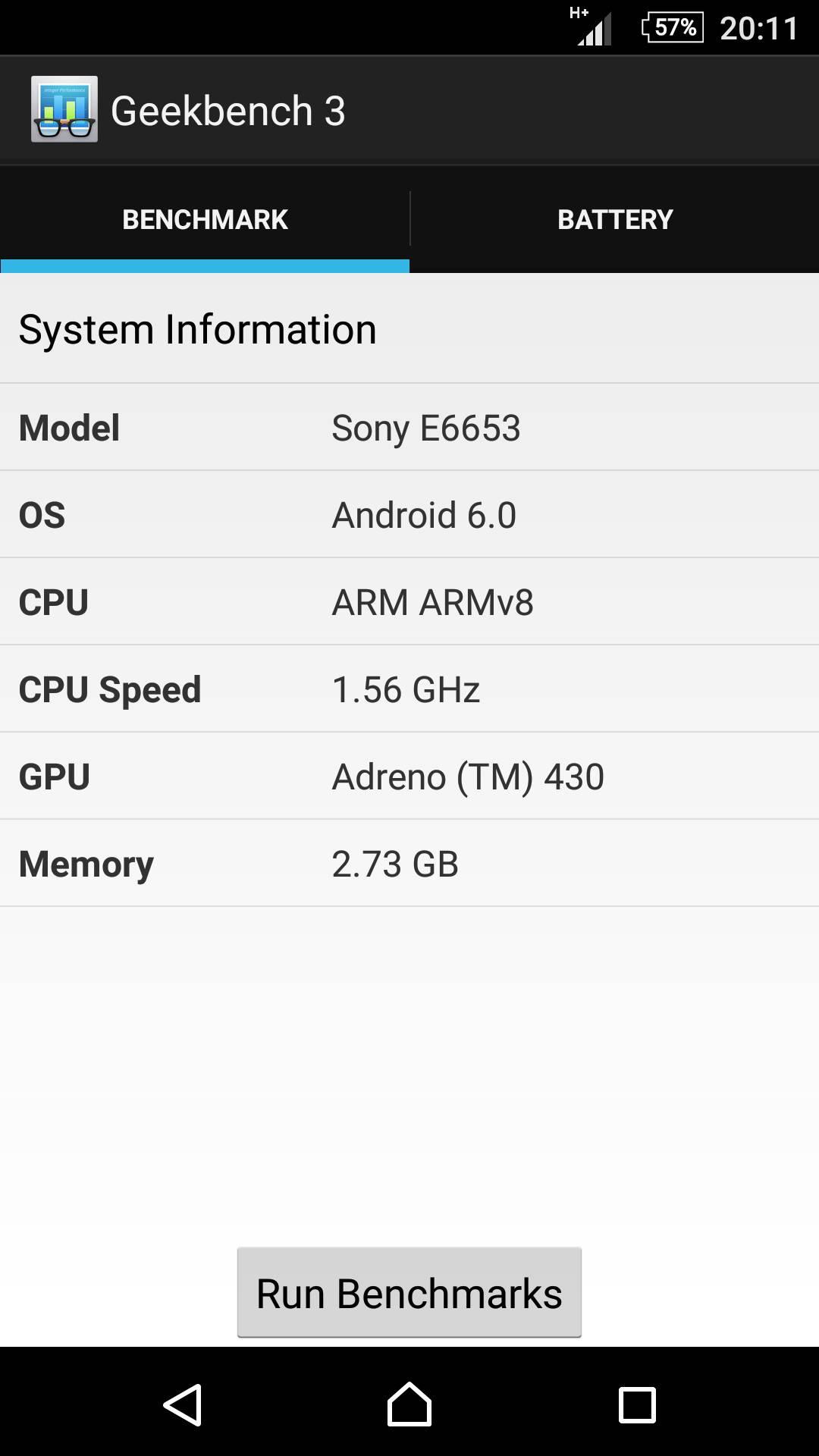 Sony Xperia Z5 – Geekbench 3 2