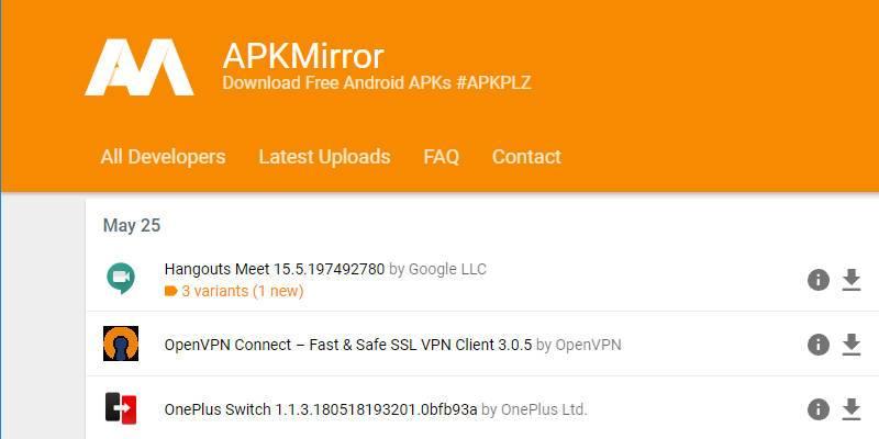 APK Mirror Google Play Store non ufficiale