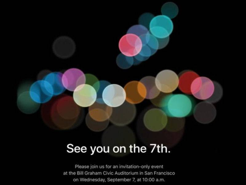 Ufficiale: il 7 settembre Apple presenterà i nuovi iPhone 7 e Apple Watch 2