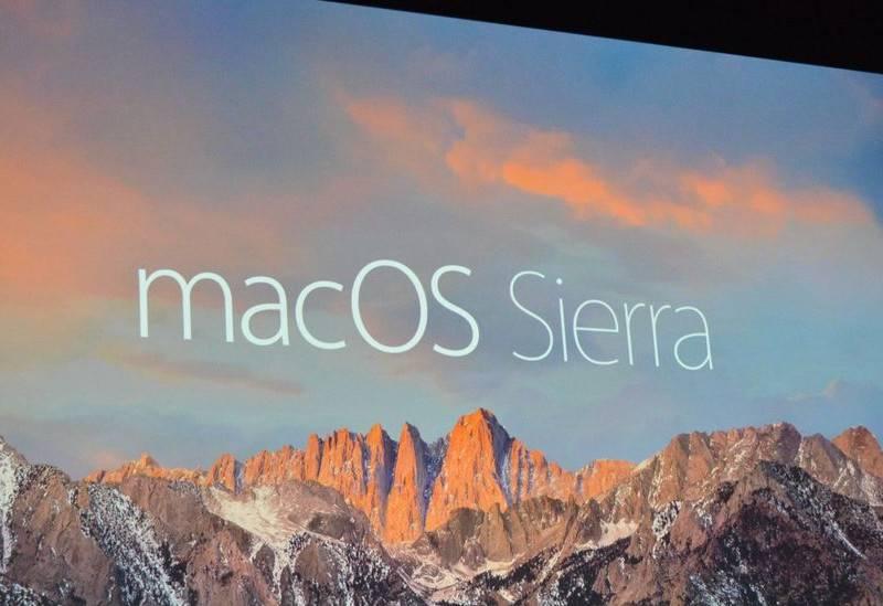 macOS Sierra al WWDC 2016