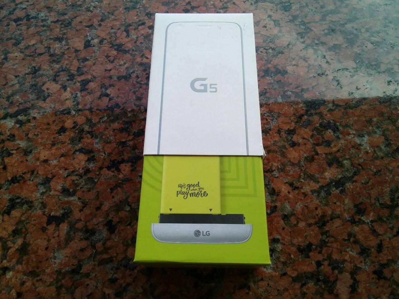 LG G5 confezione - recensione