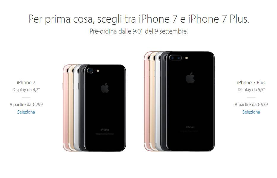 prezzo iPhone 7