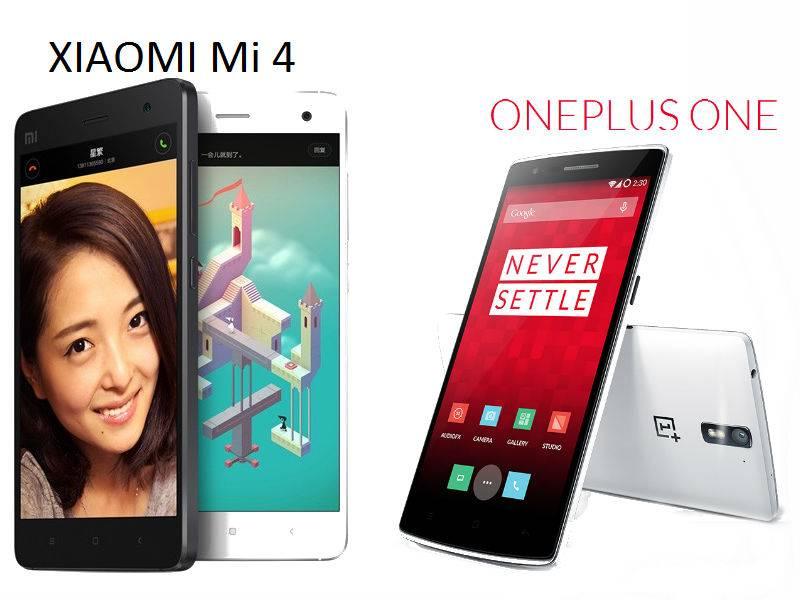 OnePlus One vs Xiaomi Mi4