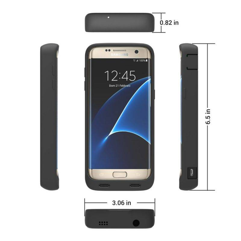 Battery case per Galaxy S7 Edge by ZeroLemon